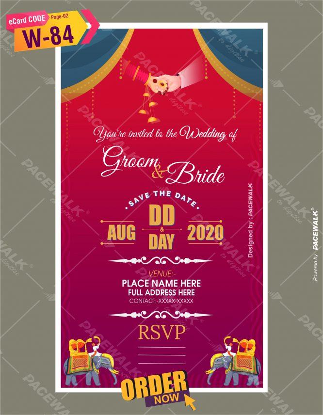 Digital invitation ecard