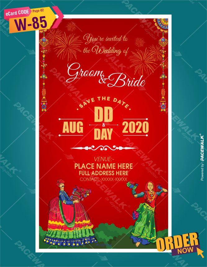 Rajasthani theme wedding invitation card