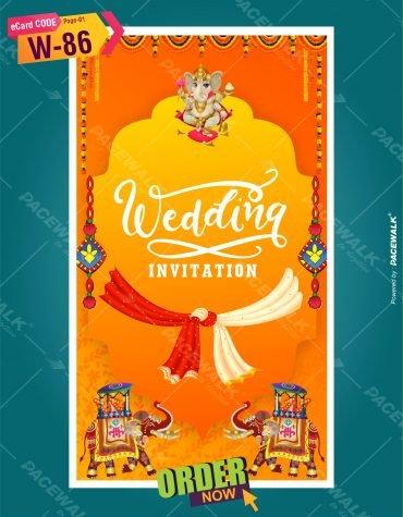 Rajasthani Wedding Invitation Card