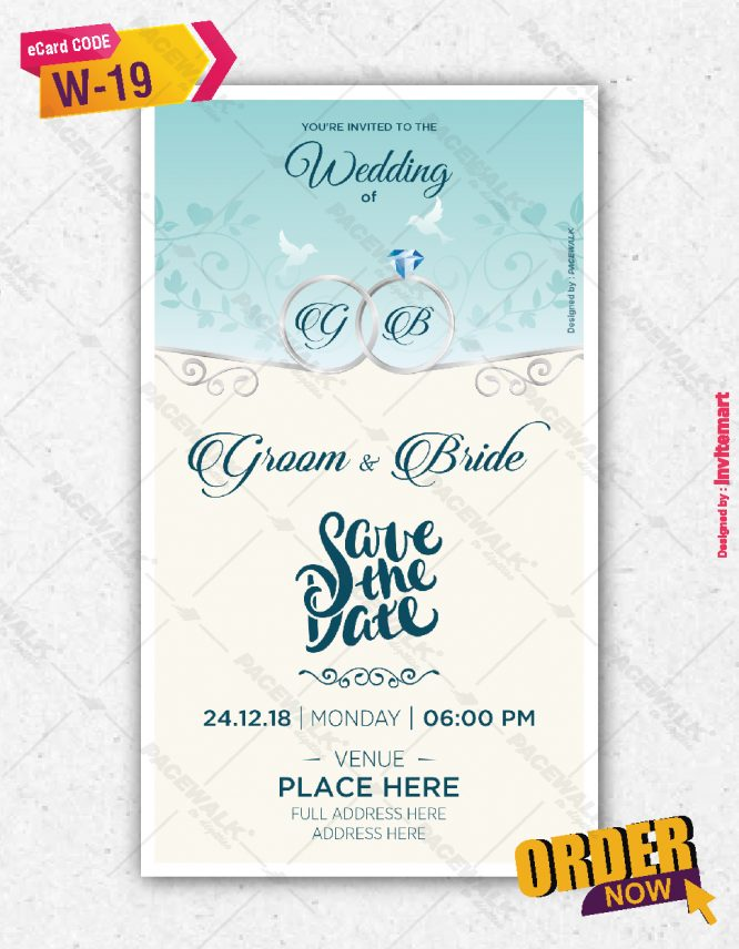 Modern Style Wedding Invitation eCards