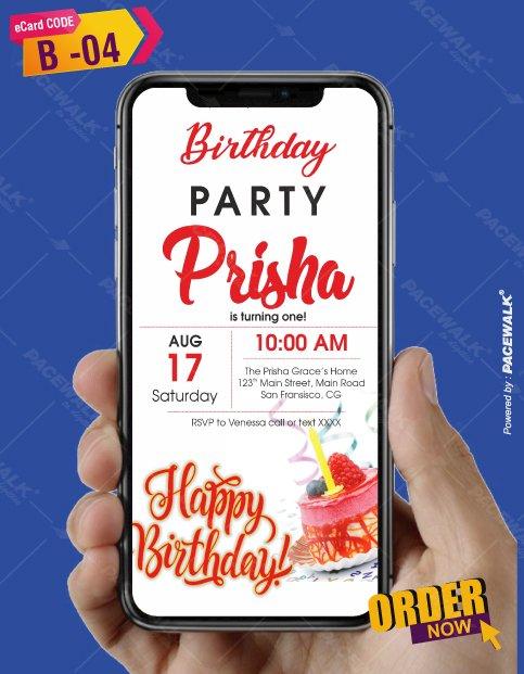 Personalised Unique Birthday Invitation eCards