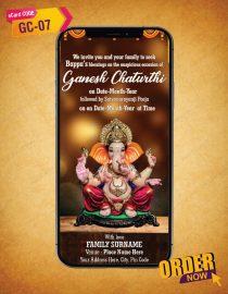 Ganesh Chaturthi Invitation eCard