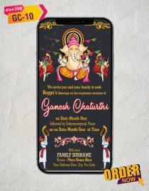Ganpati and Satyanarayan Pooja Invitation