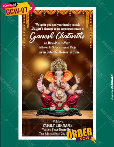 Ganpati and Satyanarayan Pooja Invitation