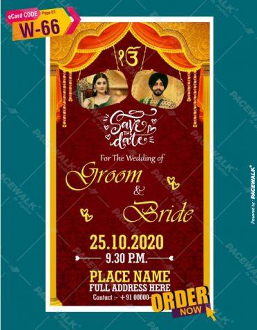 Custom Punjabi Sikh Wedding Invitation ecards