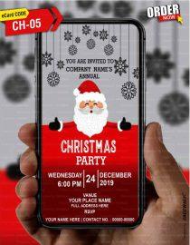 Merry Christmas invites