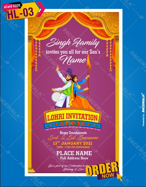 BEST FIRST LOHRI INVITATION CARD IDEAS