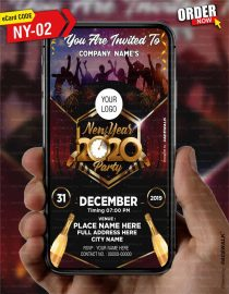 New Year Evening Party Invitation