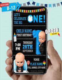 Boss Baby Birthday Invitation eCard
