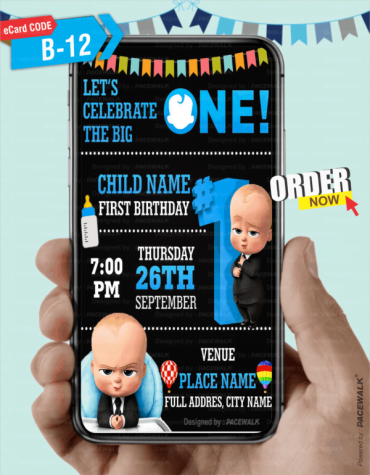 Boss Baby Birthday Invitation eCard
