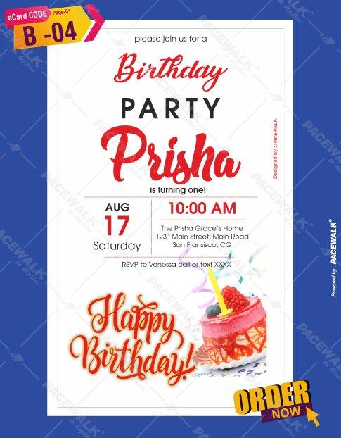 Lovely Birthday Invitation Card Maker