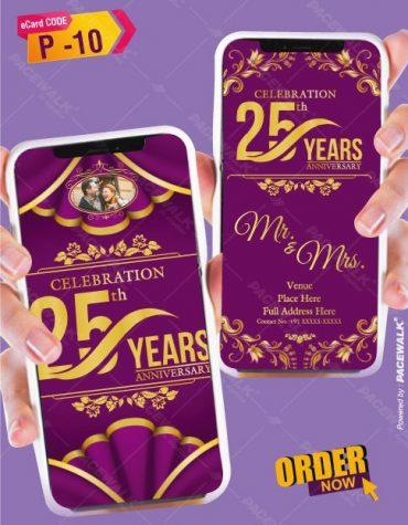 25th anniversary wedding invitation cards