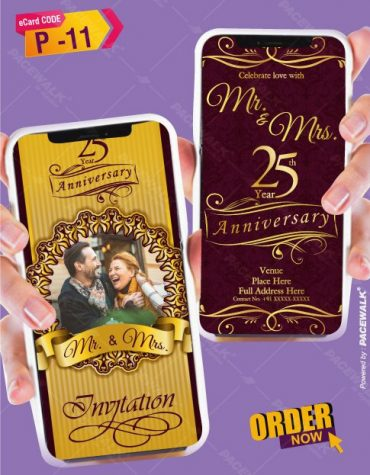 Anniversary Party Invitation card Templates