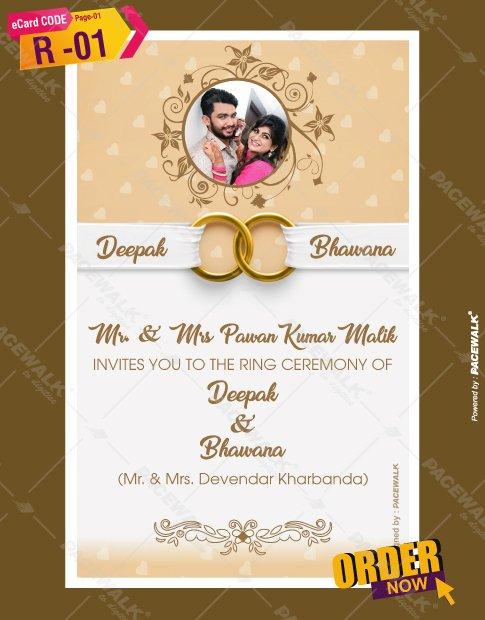 Ring ceremony invitation ecards