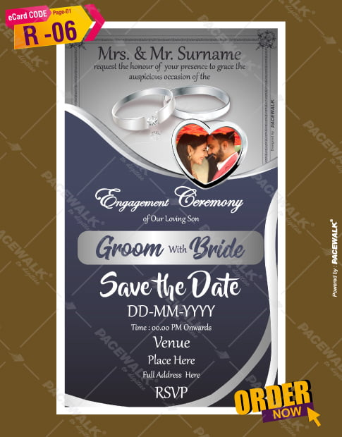 engagement ceremony invitation templates