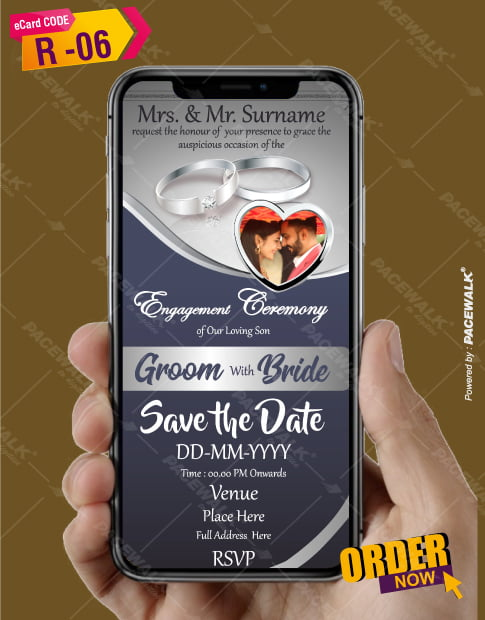 Indian Engagement Invitation Cards Online