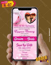 Indian Engagement Invitation eCard for whatsapp