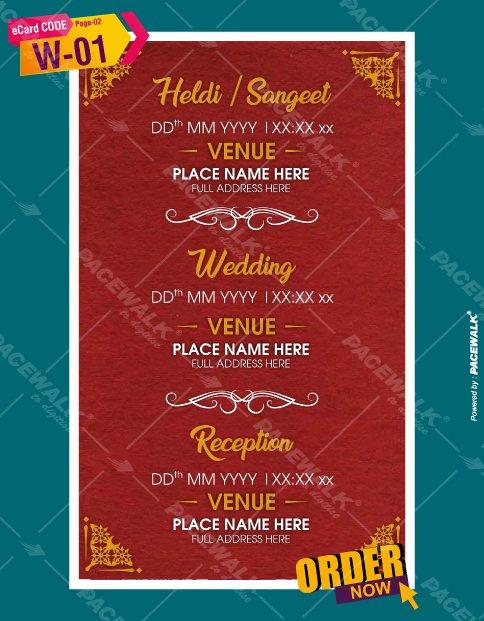 marriage invite card