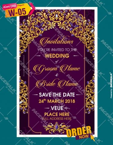 Indian Wedding invitation PDF cards