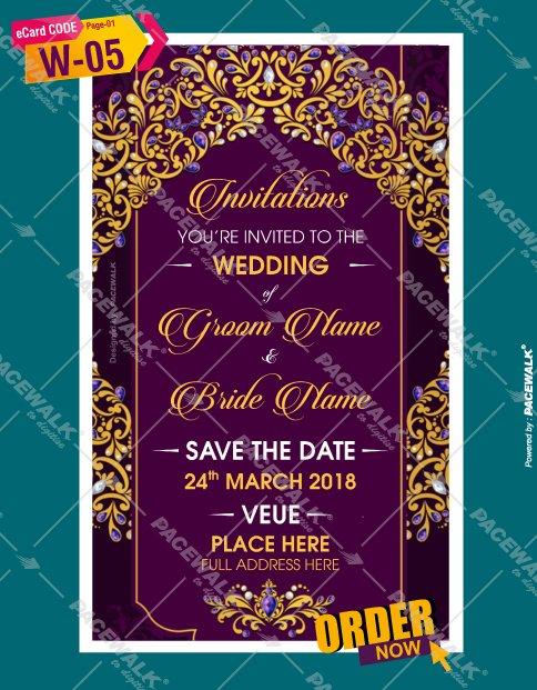 Indian Wedding invitation PDF cards
