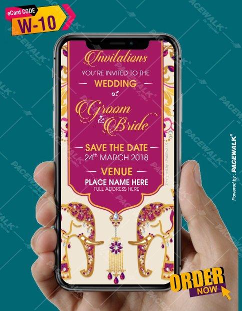 Rajasthani style Wedding Invitation eCards