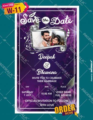 hindu marriage invitation card
