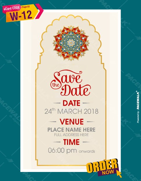 traditional wedding invitation card design