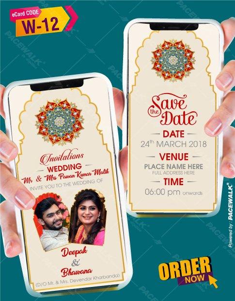 Marwari Style Wedding Invitation Templates