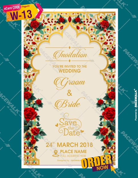 traditional marriage invitation card