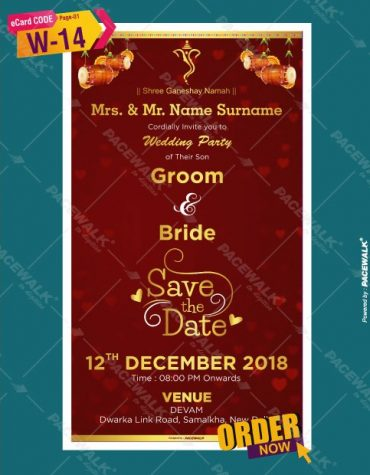 traditional wedding invitation card design