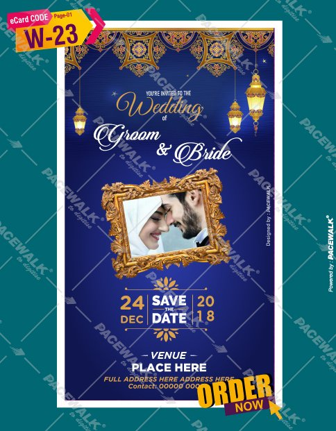 muslim wedding invitation cards online