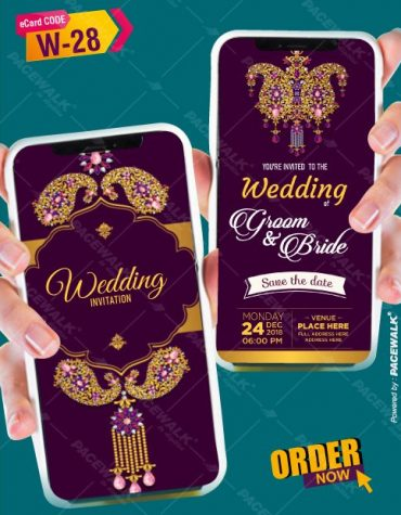 indian wedding invitation card for whatsapp