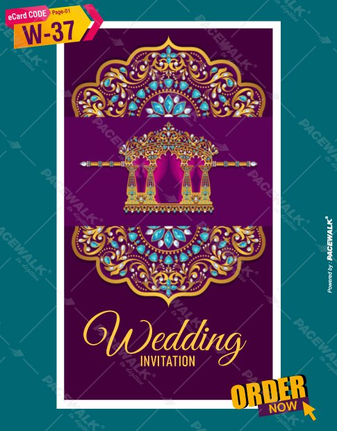 Royal Rajasthani Wedding Invitation card
