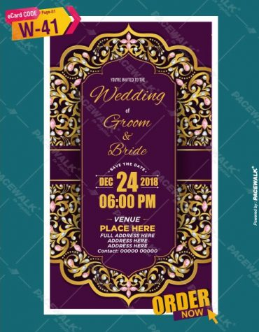 indian traditional wedding card design