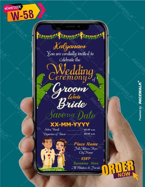 south indian wedding invitation card design