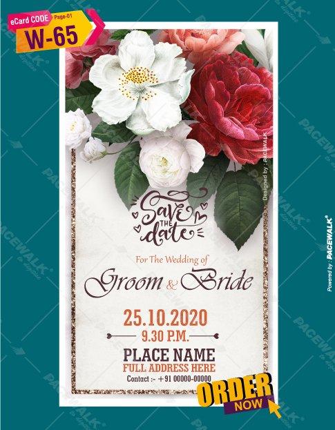 wedding invitation floral invitation card