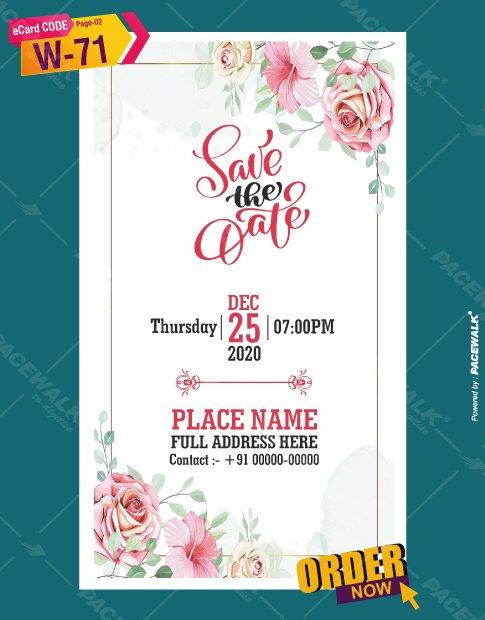 christian floral wedding invitation card design