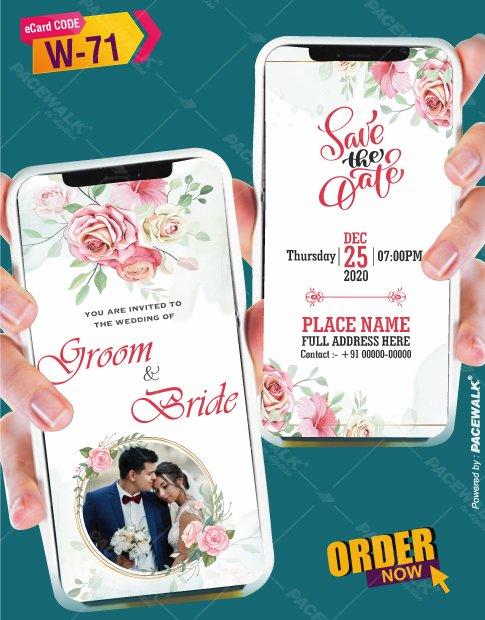 Modern Wedding Invites for whatsapp