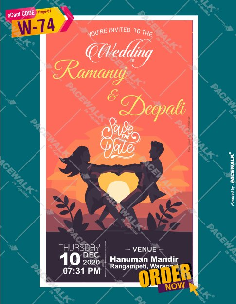 beautiful Save the date ecard maker online | Indian ...