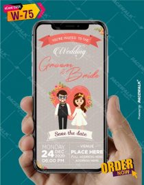 caricature Save the date ecard maker online