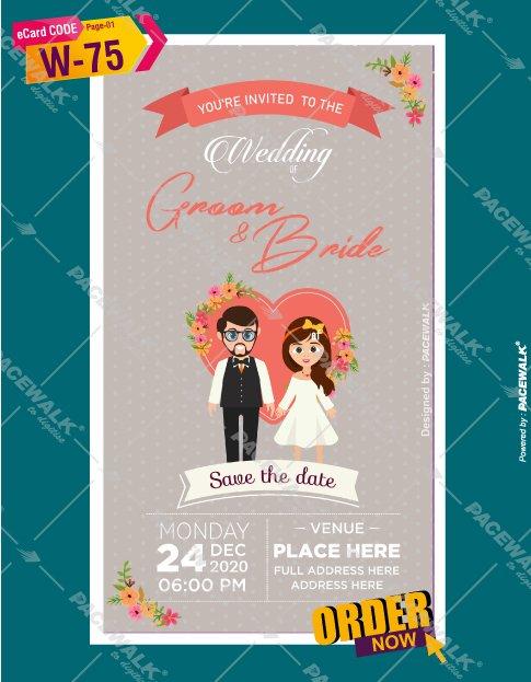 Cartoon Save The Date Ecard Maker Online