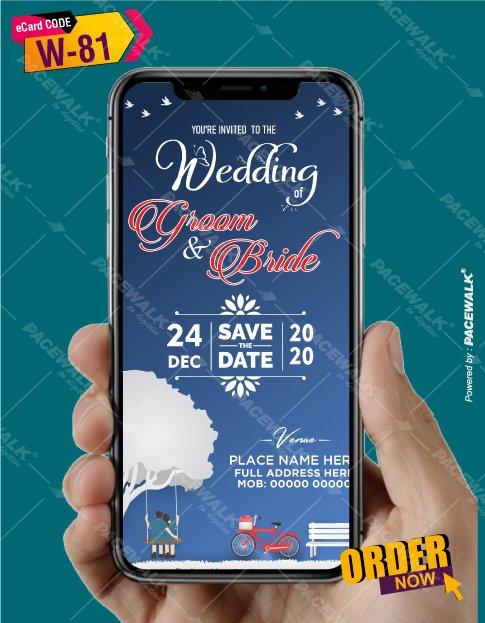creative wedding invitation card