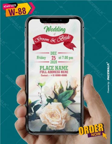 floral wedding invite card