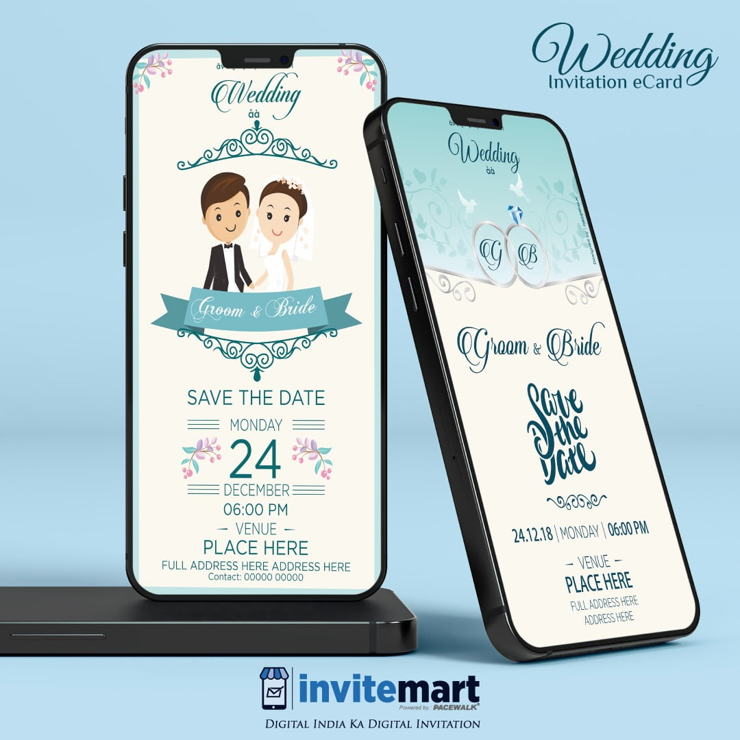 digital wedding invitation ecard