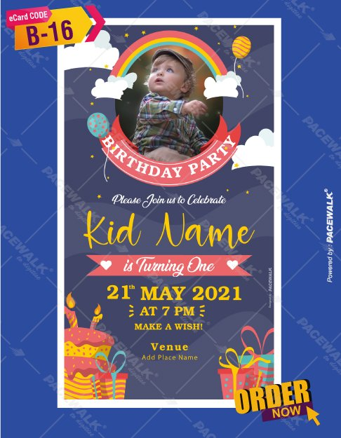 Birthday Invitation Card With Name And Photo
