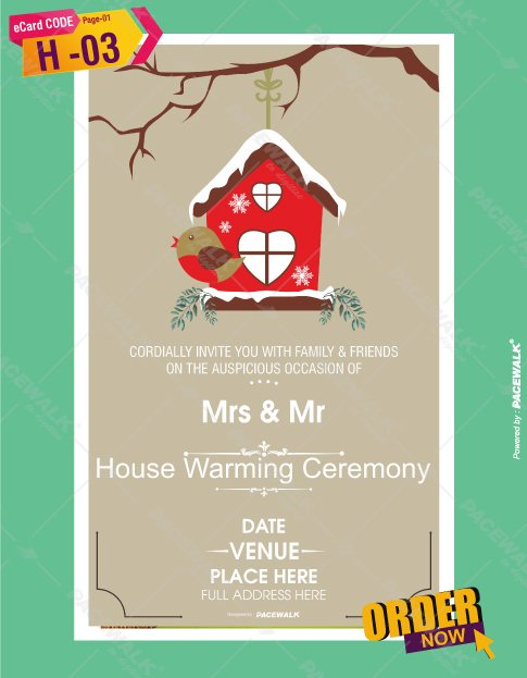 Paperless Housewarming Invitation Online eCards