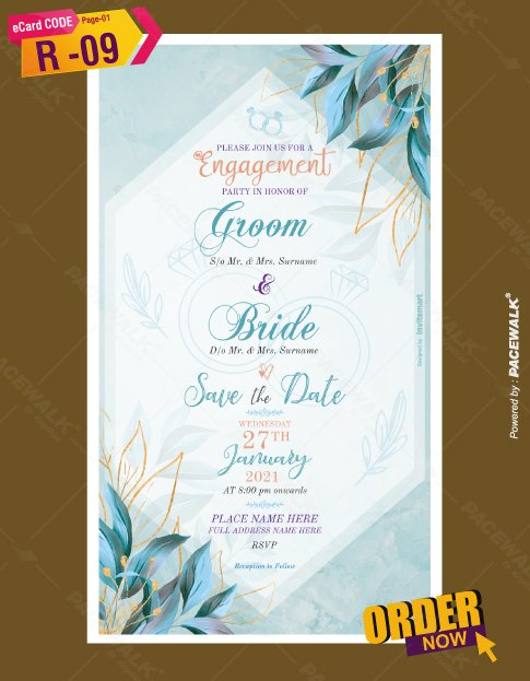 Engagement Invite Card