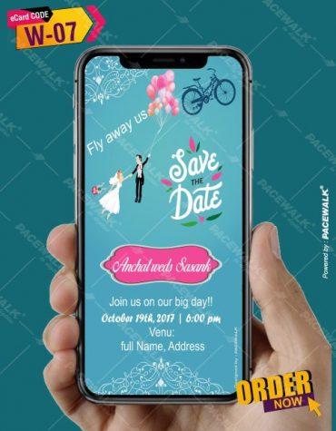 Personalised Modern Wedding Invitation eCards