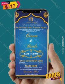 Sikh Wedding Invitation eCards