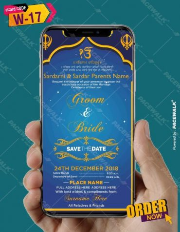 Sikh Wedding Invitation eCards